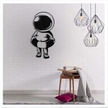 Деревянный декор на стену WHICH.BLACK - Cosmonaut (75x39 см)