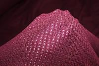 Ангора мягкая, теплая, фактурная вязка, не формодержащая , марсала , пог. м. № 227, фото 1