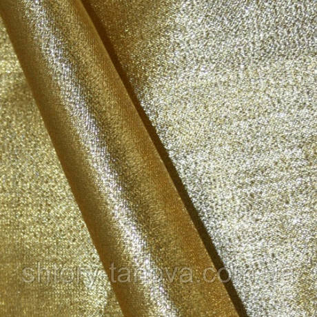 Органза люрекс старое золото