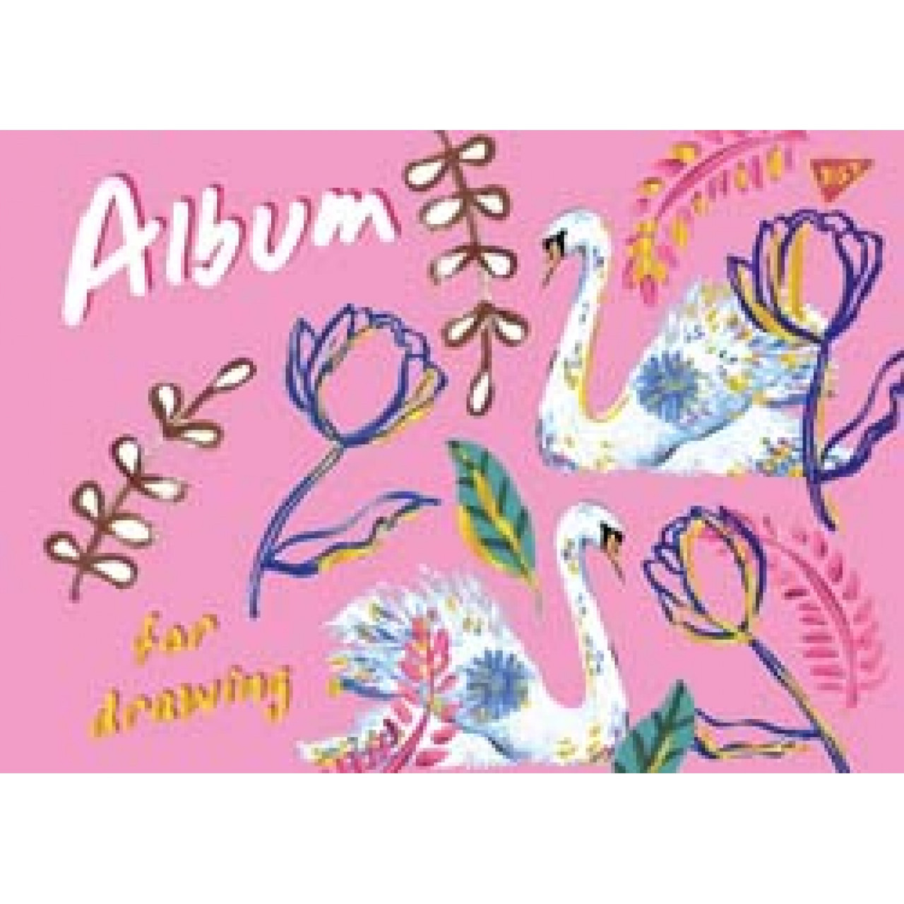 "Альбом для рисования А4 20л/100 ""Bon cote"" на спирали мат.лам+глит золото+фол зол  YES (уп. 3 шт.)"