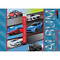 """Альбом для рисования А4 20л/100 """"Performance cars"""" на спирали мат.лам+УФ-выб+фол сер YES"""