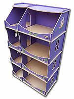 Кукольный домик-шкаф HEGA  с росписью сиреневый