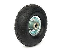 Колесо пневматическое диаметром 260 мм с металлическим диском, 4х слойная шина, ось 20 мм