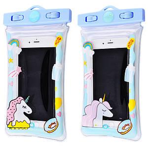 Чехлы | Чехол для телефона | Чехол на смартфон | Водонепроницаемый чехол Unicorn 5.5-6.5 (выбор дизайна)