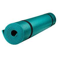 """Коврик для фитнеса Polifoam (Полифом) """"Ультрамягкий"""" (0,5х1,8м, толщ. 7 мм), изумрудный"""
