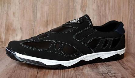 Туфлі мокасини чорні Розпродаж 43 розмір, фото 2