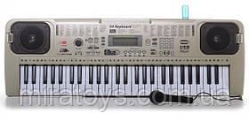 ✅Пианино-cинтезатор MQ 807 USB 54 клавиш, mp3, usb, микрофон, от сети, 2 динамика