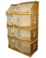 Кукольный домик-шкаф тонированный, фото 1