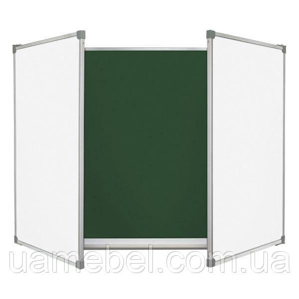 Школьная доска меловая/маркерная/комбинированная, 5 пов. 300х120 см, фото 1