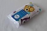 Пеленка детская муслиновая QSLEEP хлопок 100% Совушки 100х80 см, фото 4