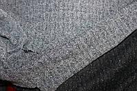 Ткань трикотаж не стрейч, плотный, формоустойчивый, серый елочка пог. м. № 228, фото 1