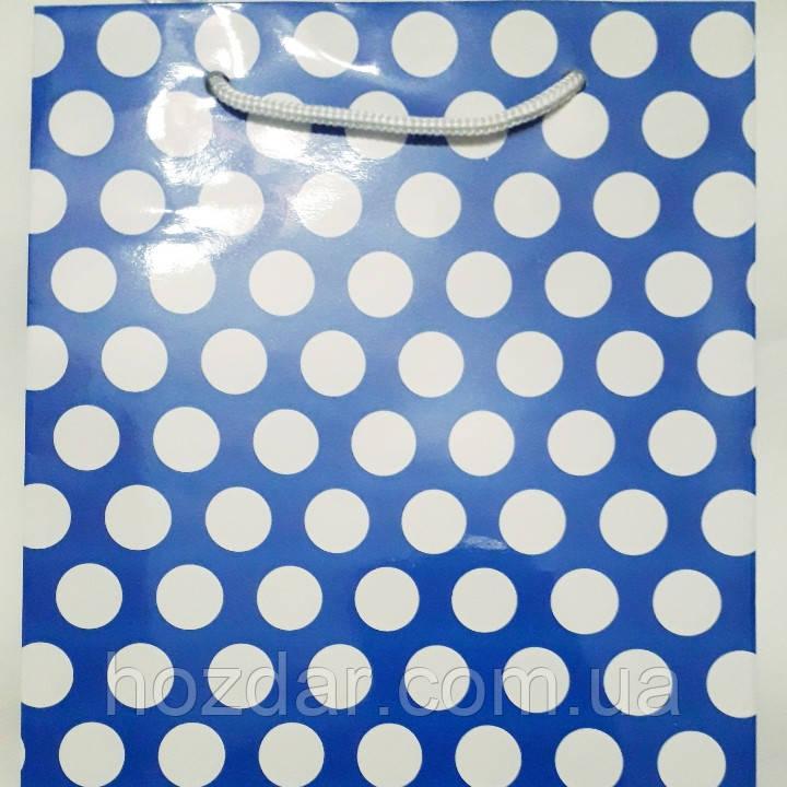 Пакет подарочный бумажный большой вертикальный 25х39х9 (27-145)