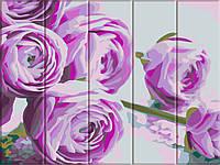 """Картина по номерам на дереве """"Сиреневые цветы"""", ArtStory, ASW044"""