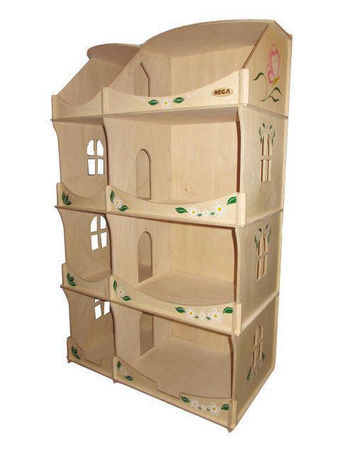 Кукольный домик-шкаф HEGA с росписью