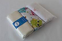 Пеленки детские муслиновые QSLEEP хлопок 100% Набор 3шт. 110х80 см