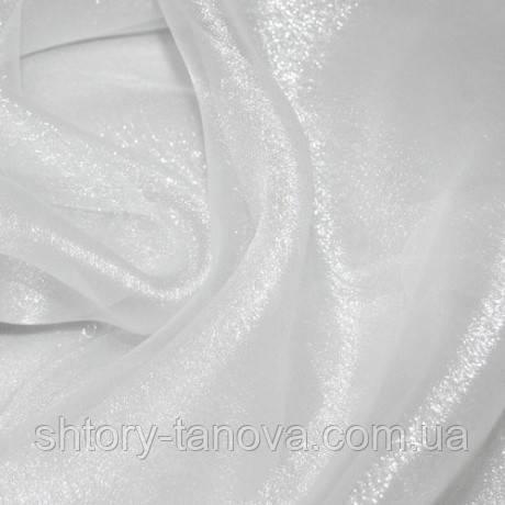 Органза снежок белый