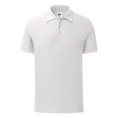 Мужская футболка поло белая 042-30