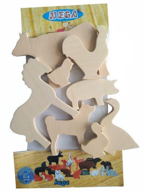 Набір Тварини HEGA для творчості дерев`яний 8 фігурок