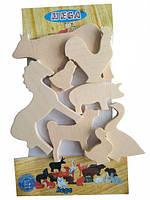 Набір Тварини HEGA для творчості дерев`яний 8 фігурок, фото 1
