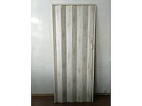 Дверь гармошка межкомнатная глухая, дуб белёный 907, 810*2030*6мм
