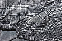 Ткань зимний трикотаж, стрейч, легкая ворсистость на лицевой стороне, клетка четкая,  пог. м. № 231, фото 1