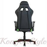 Кресло геймерскоеHexter (Хекстер) ML черный/зеленый, фото 4