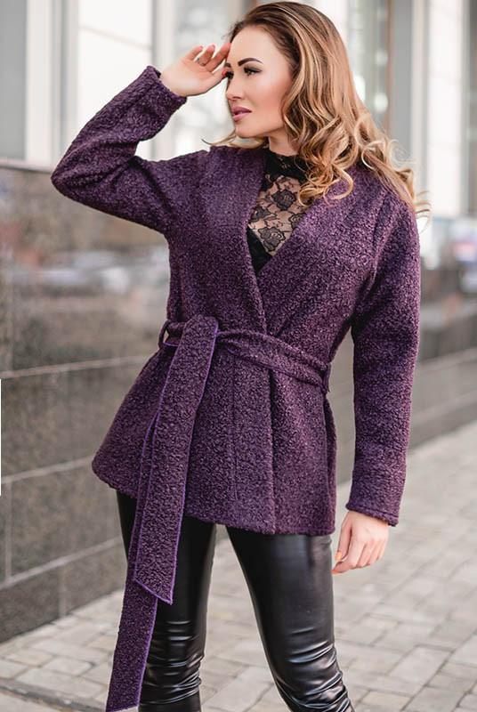 Короткое пальто Линель букле 48-60рр