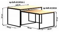 Кофейный Журнальный столик LNK - LOFT small 470*920*700, фото 1