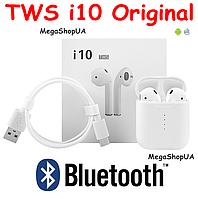 Bluetooth Наушники AirPods TWS i10 Original. Беспроводные Bluetooth наушники i10 TWS