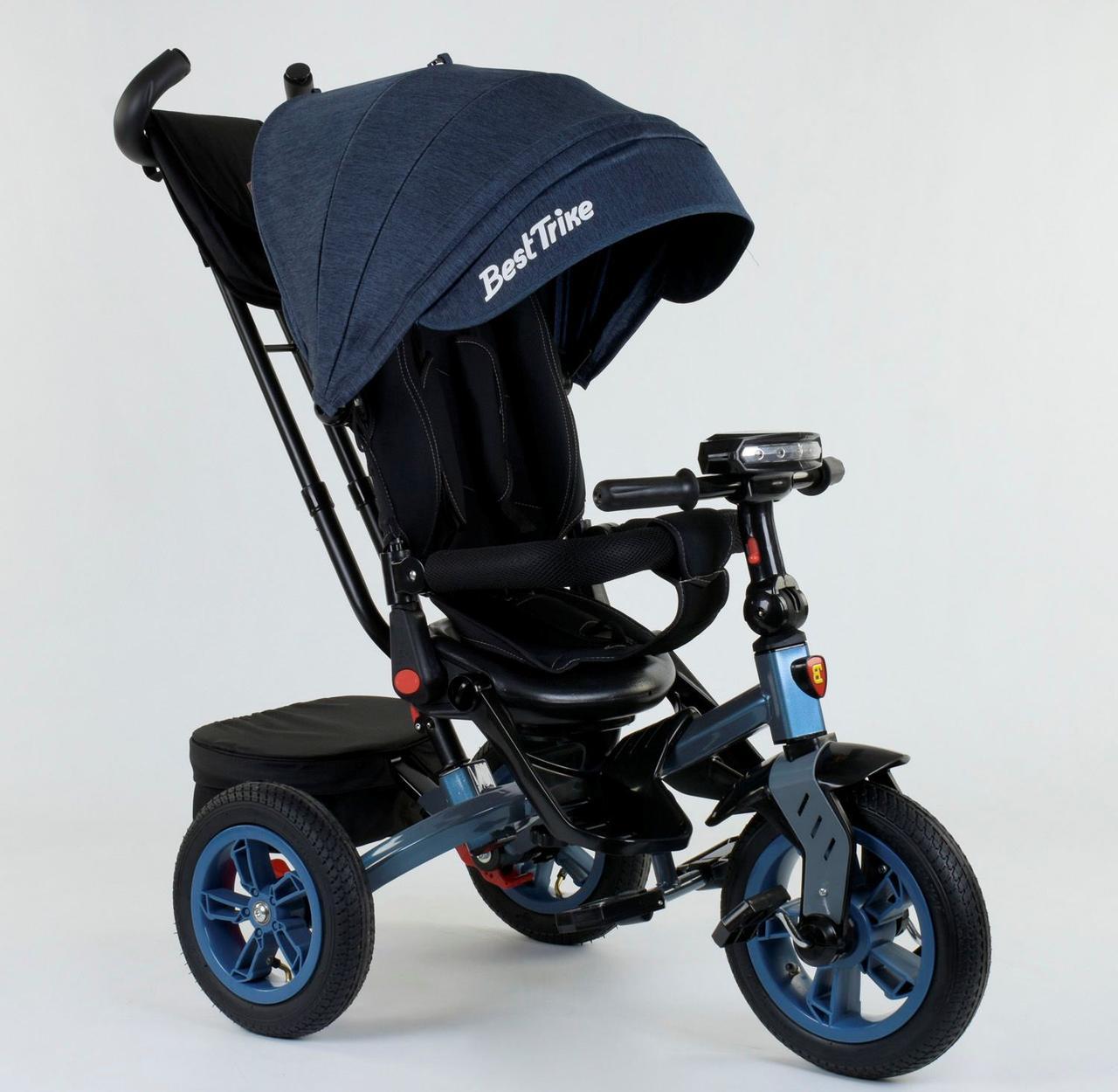 Велосипед 3-х колёсный 9500 - 9154 Best Trike Темно синий 76993