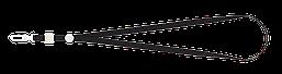 Шнурок для бейджа Buromax с карабином чёрный