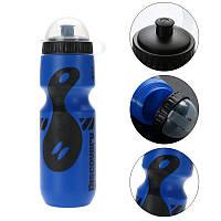 Вело фляга Discovery для велосипеда 650ml велосипедная бутылка Blue-Black