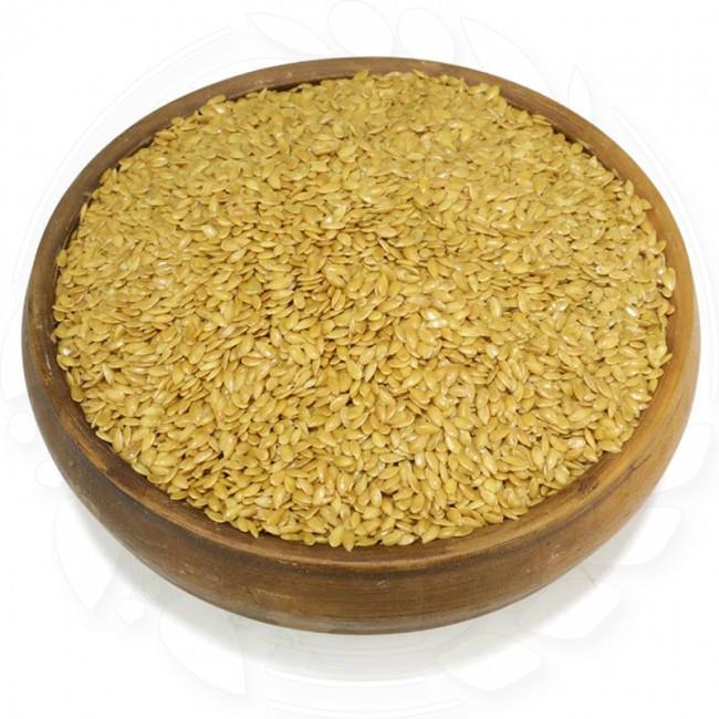 Лен золотой (белый) натуральный 0.25кг