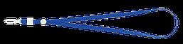 Шнурок для бейджа Buromax с карабином синий