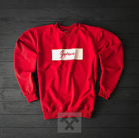 Красный свитшот Supreme (Cуприм)
