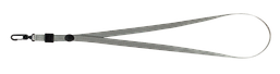 Шнурок для бейджа Buromax с карабином серый