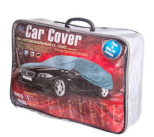Тент автомобильный CС13402 XL серый с подкладкой PEVA+Non PP Cotton 534х178х120 (8768)