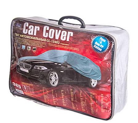 Тент автомобильный CС13402 XL серый с подкладкой PEVA+Non PP Cotton 534х178х120 (8768), фото 2