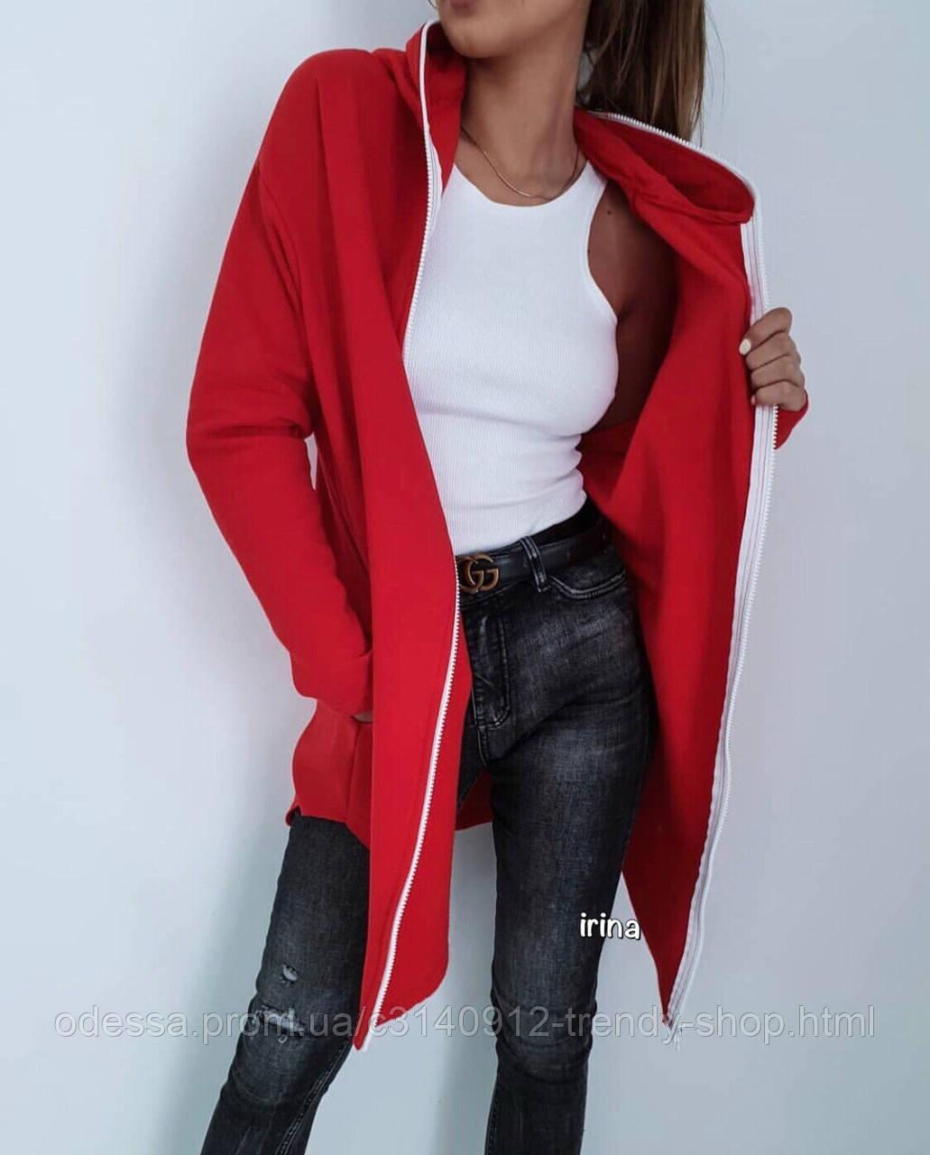 Худи женский красный чёрный серый