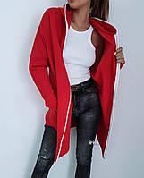 Худи женский красный чёрный серый, фото 1