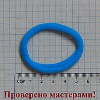 Резинка для волос 6 см диаметр, голубая, 1 шт