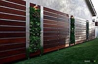 Деревянный забор сплошной для дачи LNK