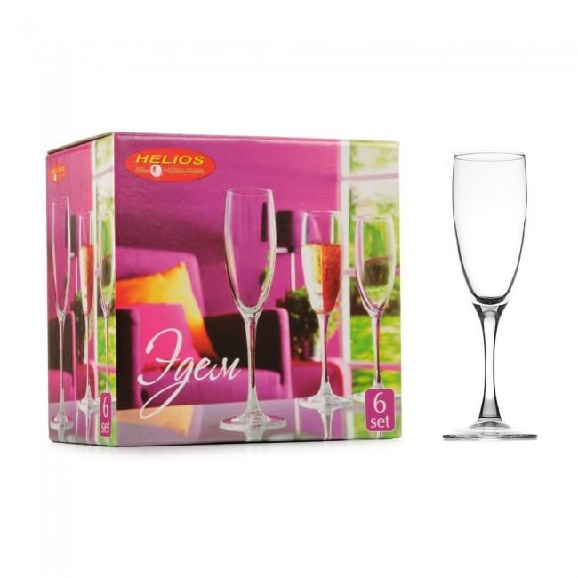 """Набор бокалов для шампанского """"Эдем"""" 170 мл 6 шт."""