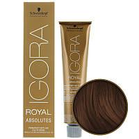 6-60 Краска для седых волос Schwarzkopf Professional Igora Royal Absolutes -Темно русый шоколадный натуральный