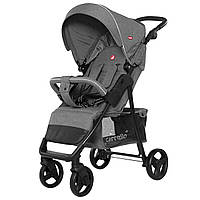 Детская прогулочная коляска светло-серая, дождевик, черная рама CARRELLO Quattro CRL-8502/2 Shadow Grey в льне