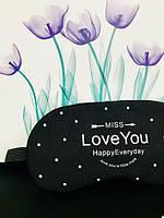 Маска для сна с гелем внутри Miss Love You  (Черный), фото 1