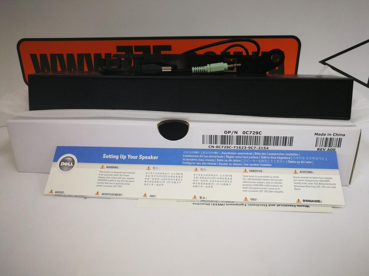 Акустическая панель к мониторам Dell - AX510 Soundbar Speaker NEW в коробке !