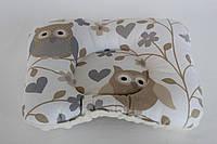 Подушка ортопедическая для младенцев QSLEEP, хлопок+плюш, 23*20см, форма бабочка