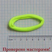 Резинка для волос 6 см диаметр, салатовая неон, 1 шт