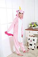 Пижама Кигуруми Единорог Розовый (M), фото 1